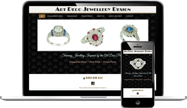 Art Deco Jewellery Design - Website